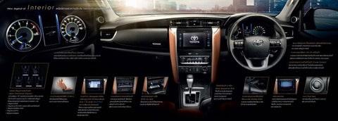 Nội thất sang trọng của Toyota Fortuner 2016