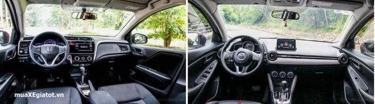 honda city vs mazda2 sedan 3 768x214 - Nên chọn Honda City hay Mazda2 Sedan tại Việt Nam - Muaxegiatot.vn