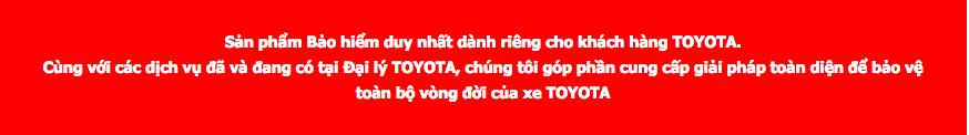 san pham toyota tancang net - Bảo hiểm chính hãng Toyota - Muaxegiatot.vn
