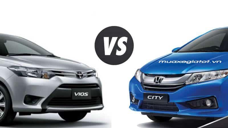 """So sánh Toyota Vios G với Honda City TOP """"Mèo nào cắn mỉu nào"""""""
