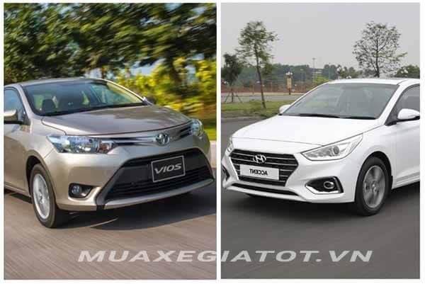 So sánh Toyota Vios 1.5E MT và Hyundai Accent 1.4 MT số sàn