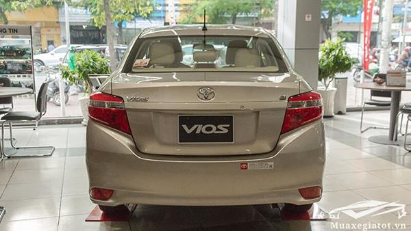 duoi xe toyota vios 15 e cvt 2018 2019 muaxegiatot vn 15 - Giới thiệu xe Vios 1.5E CVT 2018 số tự động vô cấp - Muaxegiatot.vn