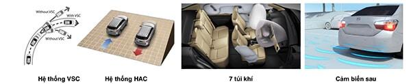 an toan vios g 2018 2019 muaxegiatot vn - So sánh Toyota Vios 2017 với Toyota Vios 2019 mới - Muaxegiatot.vn