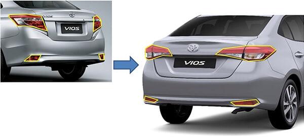 duoi xe vios 2018 2019 muaxegiatot vn - Toyota Vios 2020 có gì mới? - Muaxegiatot.vn