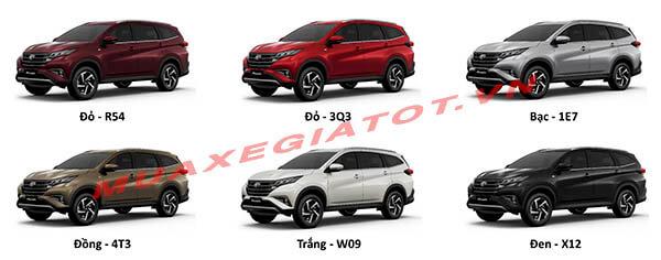 mau xe toyota rush 2018 2019 muaxegiatot vn - Toyota Rush 2021 có mấy màu? Màu nào hợp phong thủy? - Muaxegiatot.vn